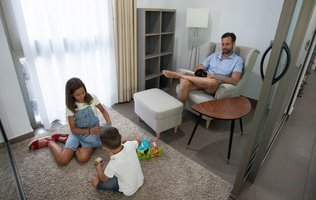 Sala de estar Hotel Coral Villas La Quinta